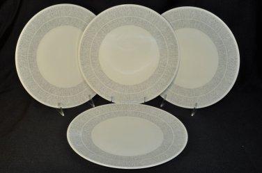 WEDGWOOD Vera Wang Vera Simplicity Cream Dinner Plates Set/4  New