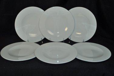 WEDGWOOD Vogue White  Salad Plates Set/6  New