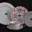 RALPH LAUREN Red Pagoda 5 Piece Place Setting New