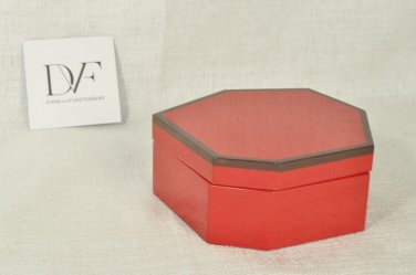 DIANE VON FURSTENBERG DVF Home Radiant Red Lacquer Small Box with Lid NIB