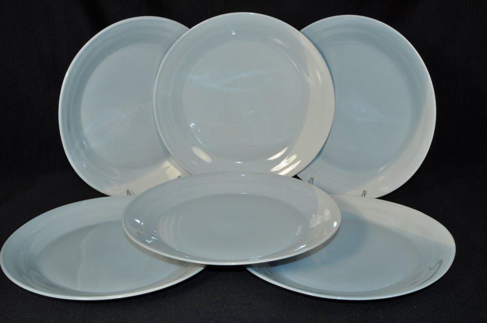 Royal Doulton 1815 Pastel Blue Dinner Plates Set 6