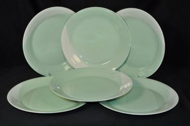 ROYAL DOULTON 1815 Pastel Green  Dinner Plates Set/6  Handcrafted New