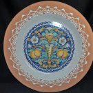 "VAL DEMONE CERAMICS Hand Painted Decorative Wall Plate 22"" New"