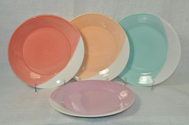 ROYAL DOULTON 1815 Bright Colors Side/Salad Plates Set/4  Handcrafted New