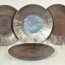NAMBE Sunburst Metallic Sunrise Salad Plate Set/4  Stoneware New