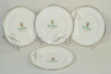 WATERFORD China Ballet Jewels Bread and Butter Plates Set/4 New