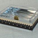 LABRAZEL Spectator Black Fine Leather Soap Dish Crystal Jamie Drake Italy New