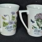 PORTMEIRION Botanic Garden Mugs Set/2 Assorted New