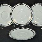 WEDGWOOD Bone China Mosaic Tea Saucers Set/4 by Jasper Conran New