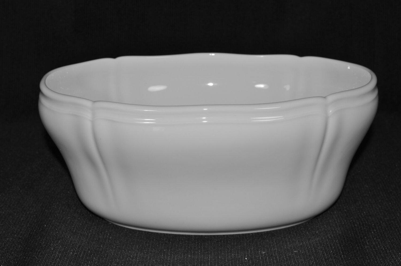 "Richard Ginori Antico Doccia Bianco White Oval Vegetable Bowl 4"" x 10"" x 8"" New"