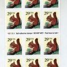 Scott #2489 Red Squirrel 18 x 29¢