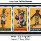 Scott #3076a American Indian Dancers stamp block of 4 x 32¢