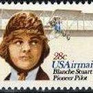 Scott #C-99 Blanche Stuart Scott, Pioneer Pilot single Air Mail stamp 28¢