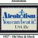 Scott #1927 Alcoholism – You can beat it! single stamp 18¢