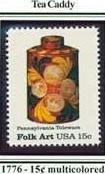 Scott #1776 Pennsylvania Toleware � Tea Caddy single stamp 15¢