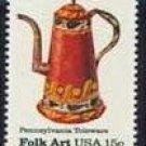 Scott #1778 Pennsylvania Toleware – Coffee Pot single stamp 15¢