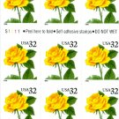 Scott #3054 Yellow Rose  booklet stamp 1996 - Self-adhesive Booklet stamp pane of 20 x 32¢