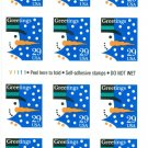 Scott #2793 CHRISTMAS - Snowman 1993 Self-adhesive Booklet stamp sheet 18 x 29¢
