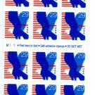 Scott #2598 EAGLE. 1994 Self-adhesive Booklet stamp pane 18 x 29¢