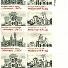 Scott #1838-1841 Architecture - 1980 stamp plate block 16 x15¢