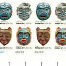 Scott #1834-1837 Indian Art – September 1980 stamp plate block 16 x15¢