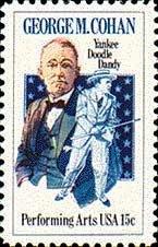Scott #1756 GEORGE M. COHAN - Performing Arts � 1978 single stamp denomination 15¢