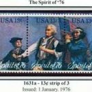 Scott #1631a SPIRIT OF '76 strip of 3 stamps denomination: 13¢
