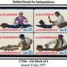 Scott #1720a SKILLED HANDS FOR INDEPENDENCE 1977 block of 4 stamps denominations: 13¢