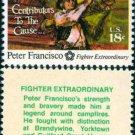 Scott #1562 AMERICAN BICENTENNIAL - Peter Francisco 1975 single stamp denomination: 13¢