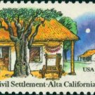Scott #1725 ALTA CALIFORNIA – First Civil Settlement 1977 single stamp denomination: 13¢