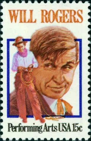 Scott #1801 WILL ROGERS - Performing Arts 1979 single stamp denomination: 15¢