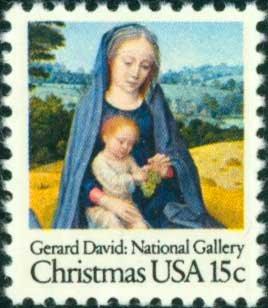Scott #1799 CHRISTMAS - Virgin and Child 1979 single stamp denomination: 15¢