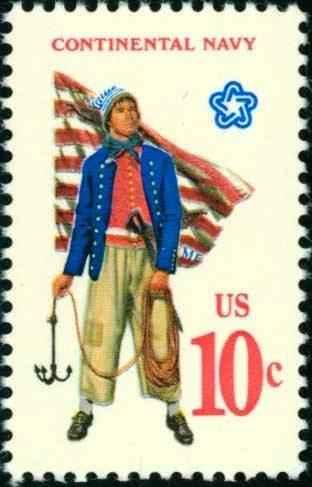 Scott #1566 CONTINENTAL NAVY 1975 single stamp denomination: 10¢