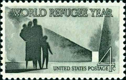 Scott #1149 WORLD REFUGEE YEAR 1960 single stamp denomination: 4¢