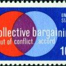 Scott #1558 COLLECTIVE BARGAINING 1975 single stamp denomination: 10¢