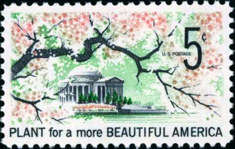 Scott #1318 PLANT FOR A BEAUTIFUL AMERICA 1966 single stamp denomination: 5¢