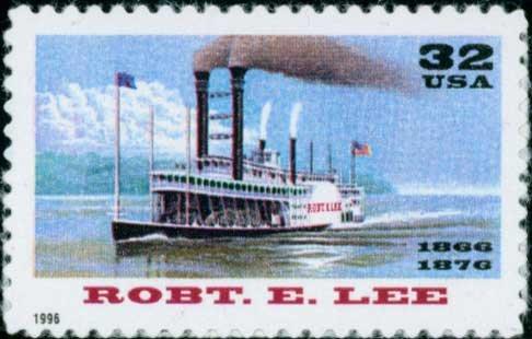 Scott #3091 ROBERT E. LEE � RIVERBOATS single stamp denomination: 32¢