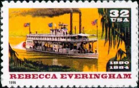 Scott #3094 REBECCA EVERINGHAM - RIVERBOATS single stamp denomination: 32¢