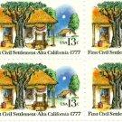 Scott #1725 ALTA CALIFORNIA – First Civil Settlement 1977 block of 4 stamps denomination: 13¢