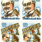Scott #C93 & Scott #C94 OCTAVE CHANUTE 1979 block of 4 airmail stamps denomination: 21¢