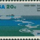 Scott #2091 SAINT LAWRENCE SEAWAY, 25th ANNIVERSARY 1984 single stamp denomination: 20¢