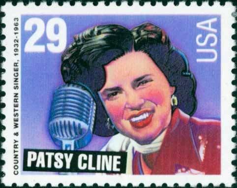 Scott #2772 PATSY CLINE - American Music Series 1993 single stamp denomination: 29¢