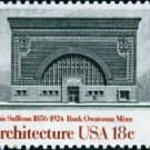 Scott #1931 NATIONAL FARMER'S BANK 1981 American Architecture single stamp denomination: 18¢