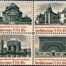 Scott #1931a AMERICAN ARCHITECTURE 1981 block of 4 stamps denomination: 18¢