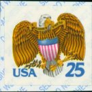 Scott #2431 EAGLE and SHIELD 1989 single self-adhesive stamp denomination: 25¢