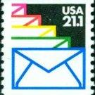 Scott #2150 SEALED ENVELOPES, coil single stamp denomination: 21.1¢