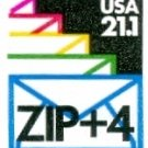 Scott #2150 with ZIP + 4 SEALED ENVELOPES, coil stamp denomination: 21.1¢