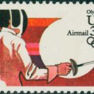 Scott # C109 1984 SUMMER OLYMPICS single airmail stamp denomination: 35¢