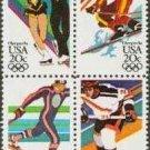 Scott #2070a '84 WINTER OLYMPICS  blk/4 20¢