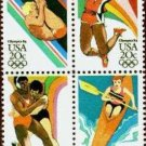 Scott #2085a '84 SUMMER OLYMPICS  blk/4 20¢